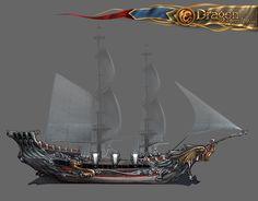 ArtStation - Dragon eternity ships, Victoriya Anda