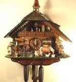Farmer Couple German Cuckoo Clock