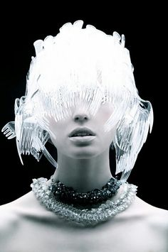 recycled plastic fork wig