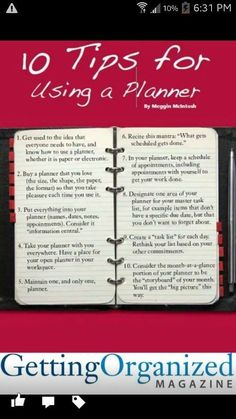 """10 tips for using a planner. Previous Pinner said """"From what I see with the planner addicts, they do a lot of this wrong. One planner! Planner Tips, Planner Pages, Life Planner, Printable Planner, Happy Planner, Printables, Daytimer Planner, How To Use Planner, Passion Planner"""