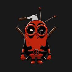 #Deadpool #Fan #Art. (Deadpool Minion) By: TeePublic. (THE * 5 * STÅR * ÅWARD * OF: * AW YEAH, IT'S MAJOR ÅWESOMENESS!!!™)[THANK Ü 4 PINNING!!!<·><]<©>ÅÅÅ+(OB4E)     https://s-media-cache-ak0.pinimg.com/564x/43/ce/42/43ce428e4d6da586f48c81efb34a7896.jpg