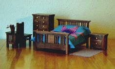 how to: Mission Style Bedroom Furniture - great tutorial for all the pieces of furniture shown