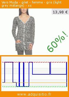 Vero Moda - gilet - femme - gris (light grey mélange) - xs (Vêtements). Réduction de 60%! Prix actuel 13,98 €, l'ancien prix était de 35,06 €. http://www.adquisitio.fr/vero-moda/gilet-femme-gris-light-9