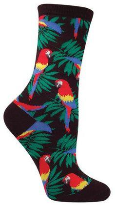 Fun parrot animal socks by socksmith in black Fishnet Socks, Sexy Socks, Cute Socks, Odd Socks, Funky Socks, Crazy Socks, Colorful Socks, Agent Provocateur, Fall Socks