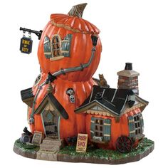 Lemax Squash Shack. SKU# 85310.  Released in 2018 as a Spooky Town Lighted Building.