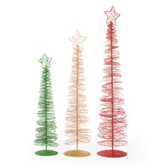 Wire Glitter Tabletop Trees