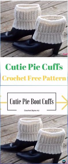 Crochet Cutie Pie Cuffs Free Pattern - Crochet Boot Cuffs Free Patterns