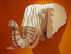 Trofeo Cabeza de Elefante Cartón
