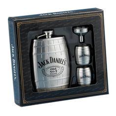 Jack Daniel?s Barrel Flask/Gift Set by Jack Daniels Licenced barware, http://www.amazon.com/dp/B001EWDRQC/ref=cm_sw_r_pi_dp_4Tcbsb03JB3A7