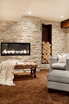 #Houzz Using the natural (firewood) to contrast with a modern design theme can produce wonderful, professional-level results when done properly. Insightful blog by Christine Tusher, a talented Houzz contributor.