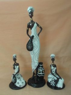 afri African Figurines, African American Figurines, Black Figurines, African American Art, African Crafts, African Home Decor, Black Women Art, Black Art, Zebra Art