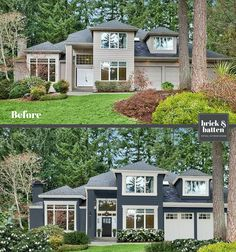 A beautiful home exterior paint job is a show stopper! We've found the best 2020 exterior house colors when selling or staying in your home. Stucco Exterior, Stucco Homes, House Paint Exterior, Exterior Paint Colors, Exterior House Colors, Paint Colors For Home, Exterior Design, Exterior Homes, Paint Colours