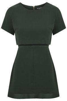PETITE Satin Back Overlay Dress TopShop