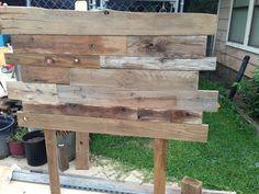 Headboard from old barn wood