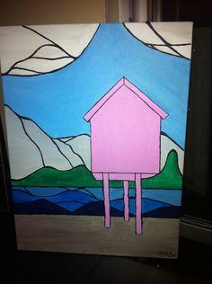 C-New: Acrylic painting