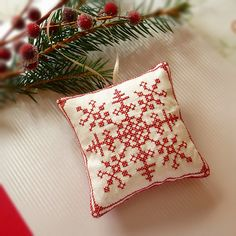 redwork snowflake ornament | Flickr - Photo Sharing!
