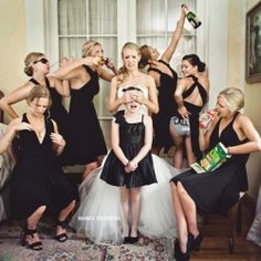 Top 15 photos you NEED for your wedding (or you'll kick yourself later!). This bridesmaid one is fanatics. Lol