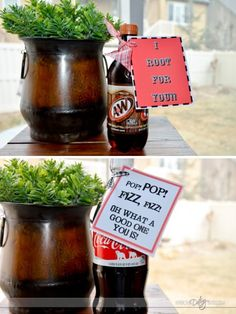 Free Soda Pop Tags (4 choices) ... sweet to attach & send with your hubby's lunch! :)