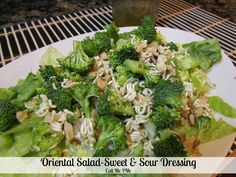 Oriental Salad with Sweet & Sour Dressing ...name's kind of old school, and I'd cut down on the butter (in a salad?) and sugar, but otherwise...