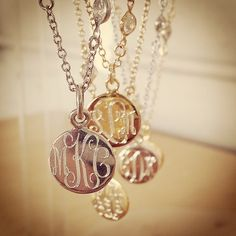 Truly timeless sparkle and shine, the Blair Monogram necklace by SwellCaroline.com #Monogram