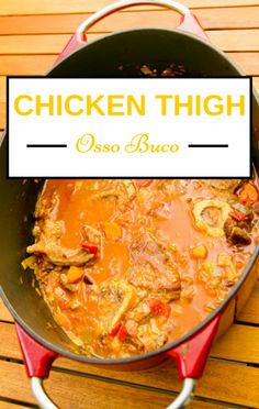 Clinton Kelly was asked by a Chew viewer to make an easy, delicious recipe, so he made his gourmet Chicken Thigh Osso Buco with Creamy Polenta recipe. http://www.foodus.com/chew-chicken-thigh-osso-buco-creamy-polenta-recipe/