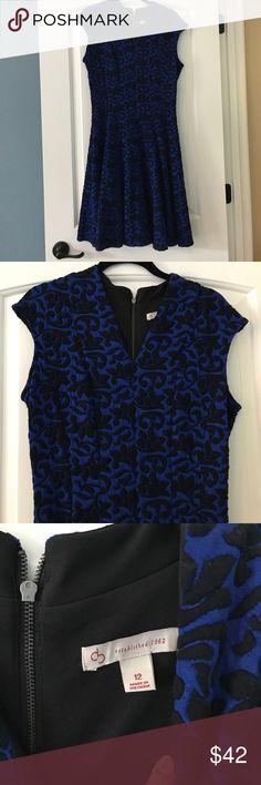 Dress Barn Blue & Black Detailed Dress, Size 12 Dress Barn Blue & Black Detailed Dress, Size 12. Worn to 1 event, excellent condition. Soft & a little stretchy. Zipper back, great details on this royal blue dress. Make an offer! Dress Barn Dresses