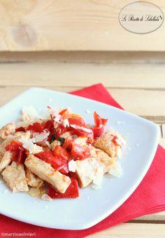 #Pollo con #peperoni e #pomodorini #ricetta #foodporn #gialloblogs
