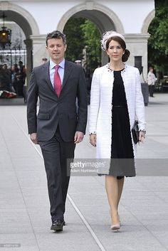 Frederik Crown Prince of Denmark and his wife Crown Princess Mary speak during their visit to the Tomb of the Unknown Soldier as part of their trip to Poland on May 12, 2014 in Warsaw, Poland. (Photo by Adam Nurkiewicz/Getty Images)