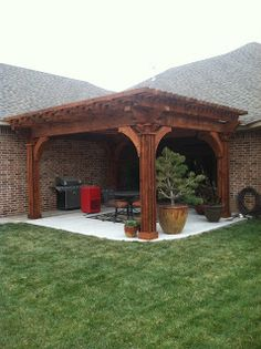Pergolas, Arbors And Decks In Lubbock, TX: Bold And Bulky Pergola In  Amarillo