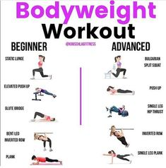 Manipulating your own body weight can be challenging whether you're just starting to train or have been at it for years. There are loads of ways to make any exercise easier or harder. Give one of these circuits a go! 💥 Beginner Circuit:  Perform 3-4 circuits. 8-10 reps per exercise. 12-20 seconds for the plank. Rest as needed to keep good form and push hard💪 🔥Static Lunge 🔥Hand Elevated Push Up: Elevate as high as you need to keep good form & use full range of motion. Can use a counter, sofa 30 Day Workout Plan, Full Body Hiit Workout, 15 Minute Workout, Fat Burning Workout, Workout Plans, Fat Workout, Body Workouts, Workout Ideas, Workout Challenge