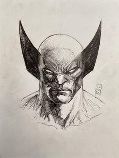 Comic Book Characters, Comic Books Art, Comic Art, Book Art, Wolverine Tattoo, Wolverine Art, Marvel Drawings, Art Drawings Sketches, Elephant Head Tattoo