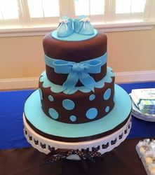 Juliana's Blue and Brown Baby Shower - Blue and Brown