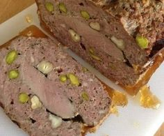 Terrine of Duck Breast Foie Gras, Good Food, Yummy Food, Fish And Meat, Duck Recipes, Charcuterie, Savoury Cake, No Cook Meals, Finger Foods
