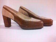 Tweed Platform Heels / Palizzio / Spectator / 70s Shoes / 70s Heels / Never been worn by GlitterNGoldVintage on Etsy