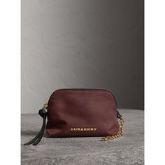 Small Zip-top Technical Nylon Pouch in Burgundy Red - Women Michael Kors Jet Set, Burberry, Burgundy, Women Wear, Pouch, Leather Jacket, Zip, Bags, Shopping