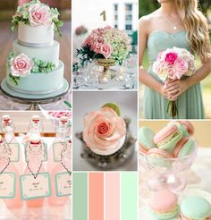 pink peach and mint spring wedding color ideas #pinkweddingideas #weddingcolors #elegantweddinginvites