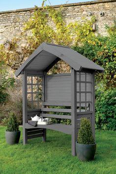 17 Super Ideas For Garden Bench Arbor Backyards Metal Arbor, Wooden Arbor, Wooden Garden, Building A Pergola, Pergola Plans, Pergola Kits, Cuprinol Garden Shades, Beautiful Home Gardens, Garden Seating