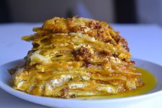 Pumpkin Rosemary Brown Butter Lasagne with Gruyere and Goat Cheese