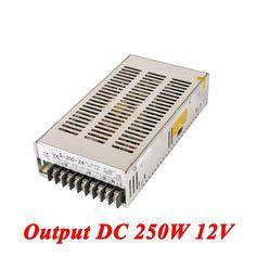 S-250-12 Switching Power Supply 250W 12v 20A,Single Output Ac-Dc Converter For Led Strip,AC110V/220V Transformer To DC 12V //Price: $18.90//     #Gadget