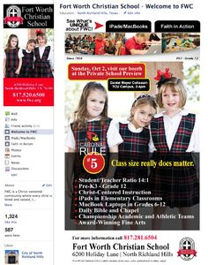 Fort Worth Christian School Custom Facebook Page - Designed by The Marketing Twins Tcu Campus, Independent School, Advertising, Ads, Christian School, Catholic School, The Marketing, Private School, Fort Worth