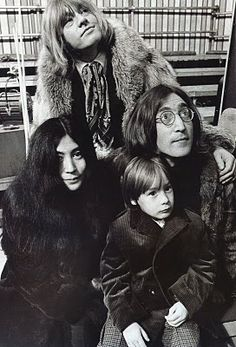 Eclectic Vibes Brian Jones, Yoko Ono, Julian Lennon, John Lennon and Donyale Luna during rehearsals for the Rolling Stones Rock and Roll Circus in London on December Julian Lennon, John Lennon Yoko Ono, Rock N Roll, Rock Music, New Music, Brian Jones Rolling Stones, The Rolling Stones, Charlie Watts, The Fab Four