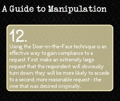 A Guide To Manipulation. This is interesting. One can probably construct a good villain using these 'guide to manipulation' notes. Guide To Manipulation, The Art Of Manipulation, Manipulation Quotes, Writing Help, Writing Prompts, Writing Tips, Persuasive Essays, Writing Resources, Essay Writing