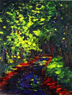 """ Forest Path ~ Emil Nolde """
