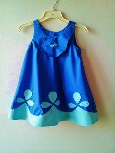 Poppy Troll Blue Costume Dress for Birthday Party Dress Up