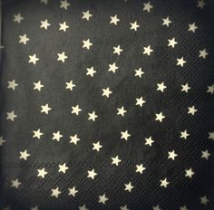 4 x Single Vintage Table Paper Napkins , Lunch , for Decoupage , Party, Stars l