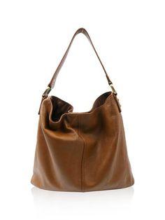 Kooba Tan Leather Hobo with Bronze Hardware Handbag
