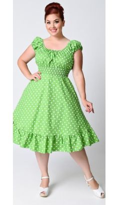 ea908bb8ce2 Plus-Size Vintage Dresses - Swing   Pencil Dresses