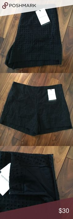🆕 Black Eyelet High Waisted Shorts size 16 NWT These shorts are so cute! Zip up on the side! Thanks so much for checking out this item today! We know that the shipping price is kinda ridiculous, so we suggest you bundle to get more for your money! You will also be saving money as well! Check out our bundle discount below! 💰reasonable offers welcome! I DO NOT TRADE!  Please do not leave rude or unkind comments! Who What Wear Shorts