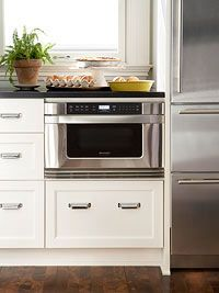 small built in microwave on base cabinet - Google Search
