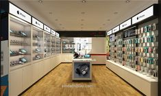 Phone shop interior design - guangzhou xinda decoration design co. Shop Interior Design, Store Design, Mobile Shop Design, Visual Merchandising, Mobile Phone Shops, Electronic Shop, Phone Store, Accessories Display, Shop Fittings